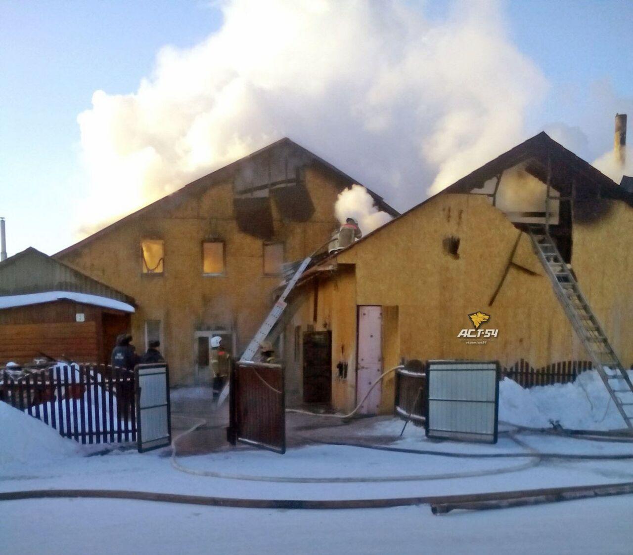 ВНовосибирской области сгорел молитвенный дом