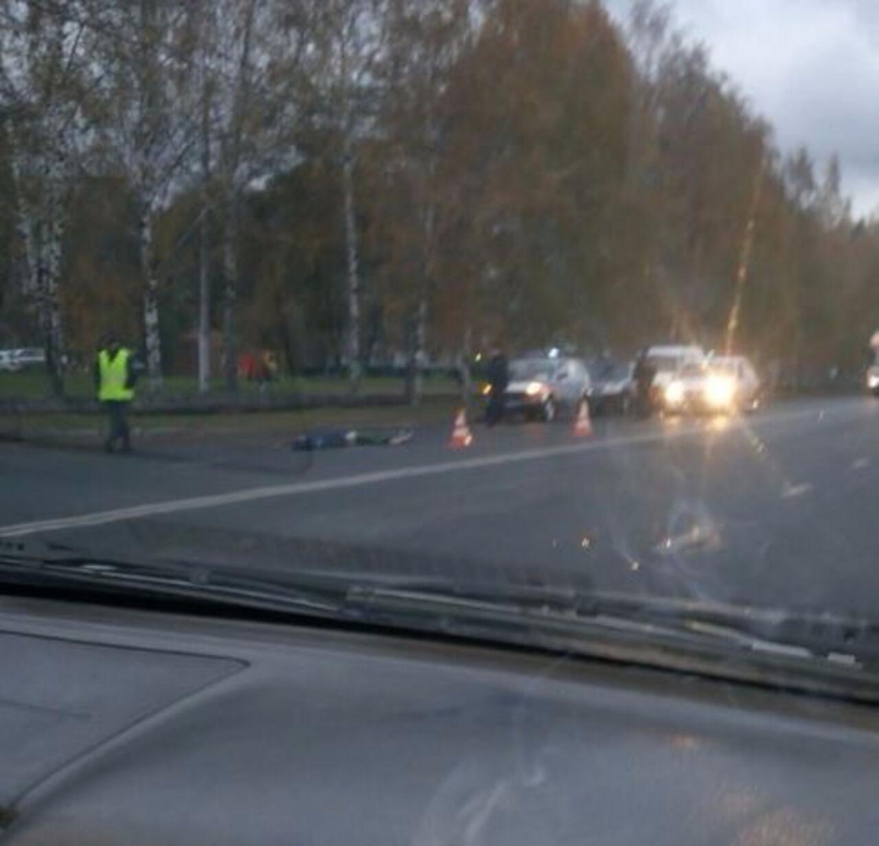 Появилось видео ДТП вКемерове, где Митсубиши насмерть сбил подростка