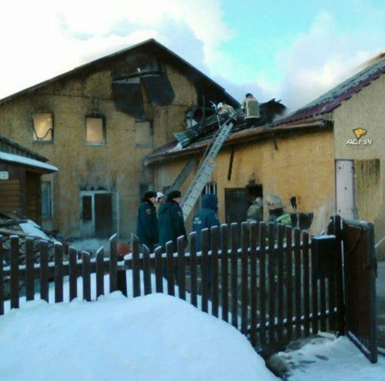 Молельный дом баптистов сгорел под Новосибирском