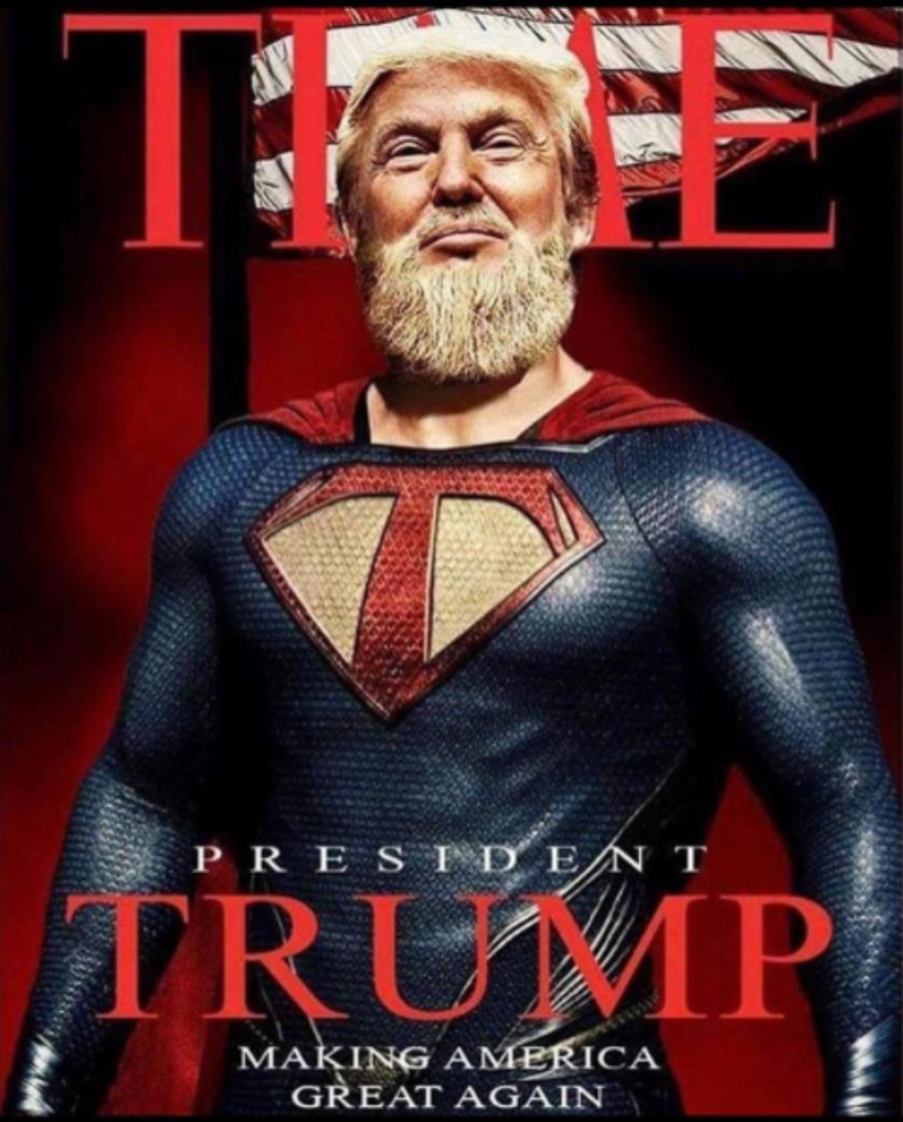 Трамп-младший обнародовал  фотокарточку  отца вобразе супермена