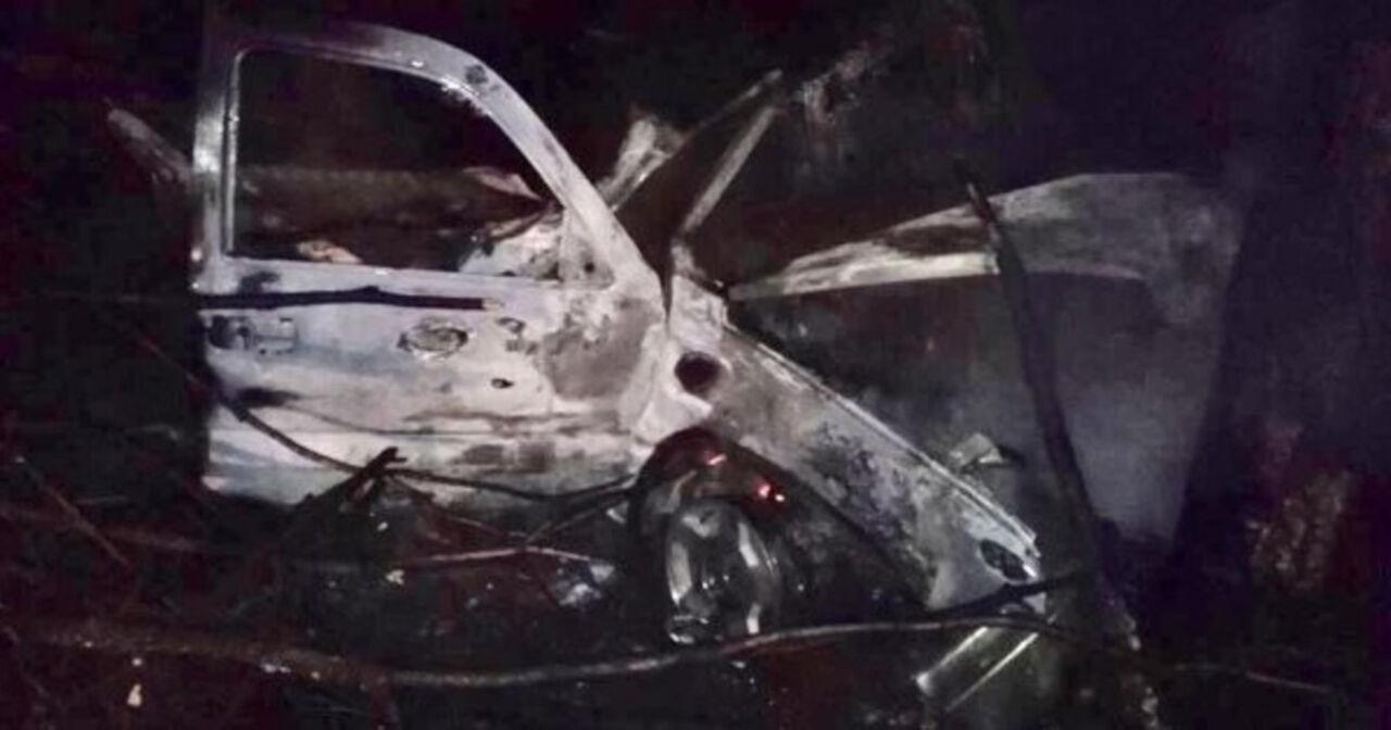 4 человека сгорели в итоге столкновения грузового автомобиля сдеревом вМексике