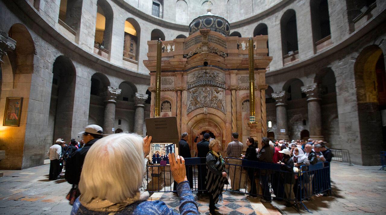 Часовню над Гробом Господнем отреставрировали впервый раз за200 лет