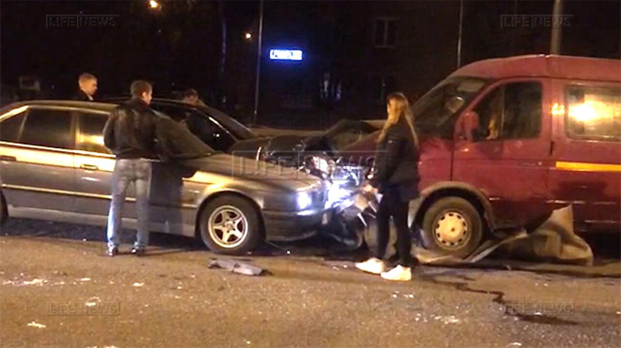 В столице вДТП попали сразу семь авто