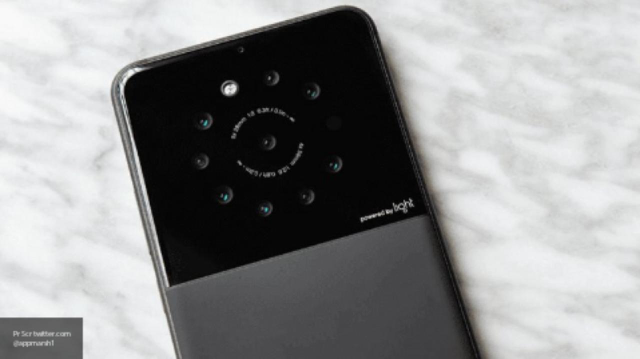 Штатская фирма разработала смартфон сдевятью камерами