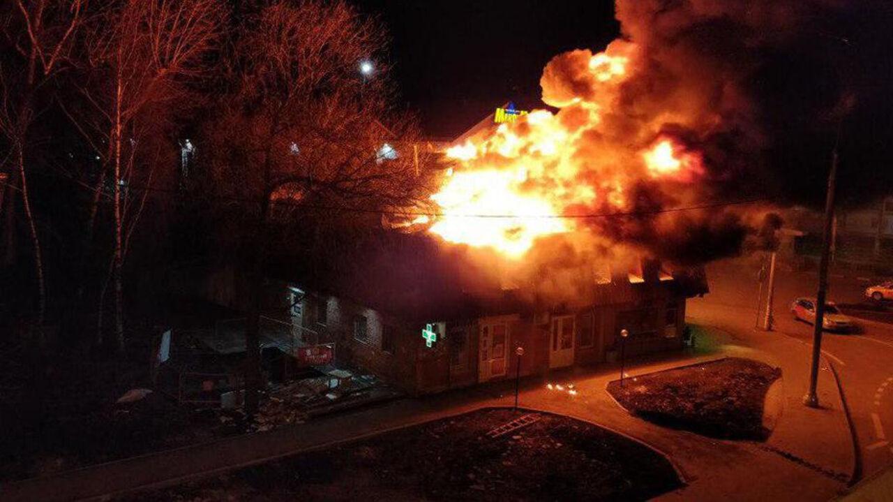 Пожар произошел вмагазине фейерверков вЩербинке