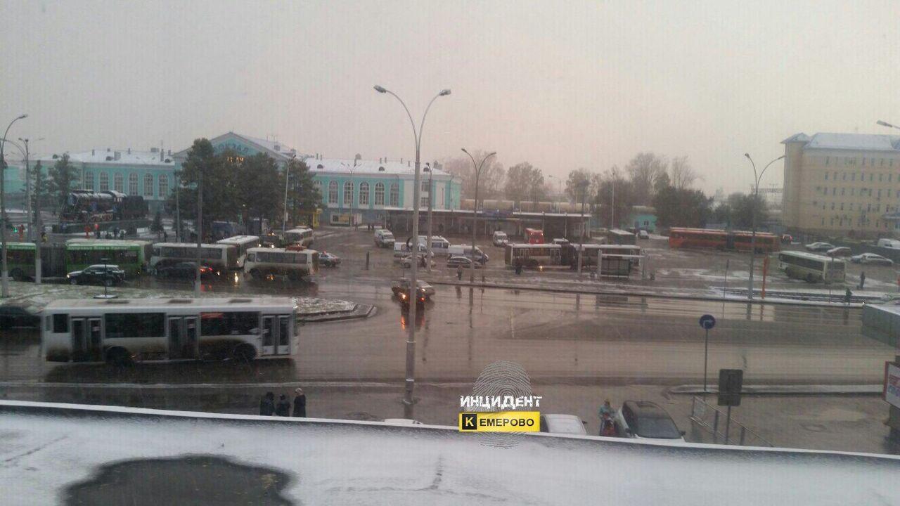 Кемеровский вокзал оцепили из-за сообщения озаминированном автобусе