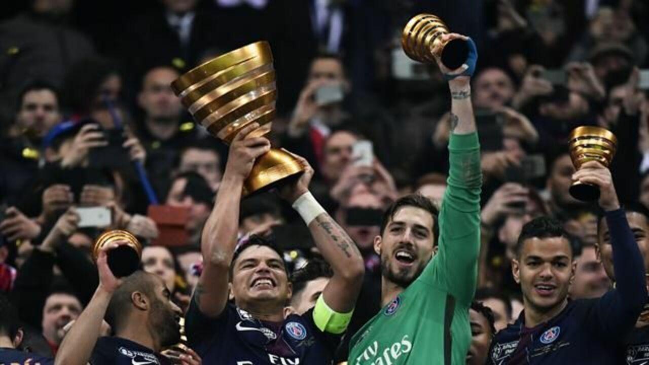 Футболисты ПСЖ в 7-мой раз завоевали Кубок французской лиги