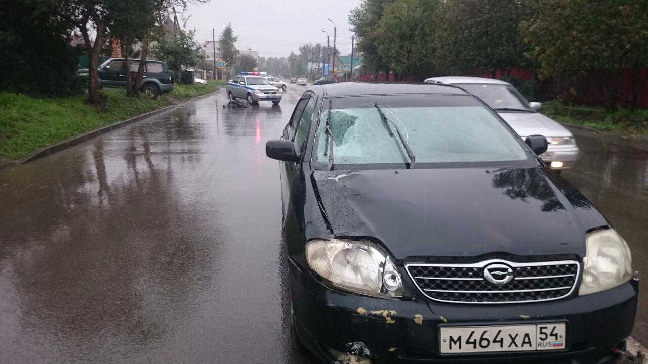Мотоциклист разбился вДТП вНовосибирской области