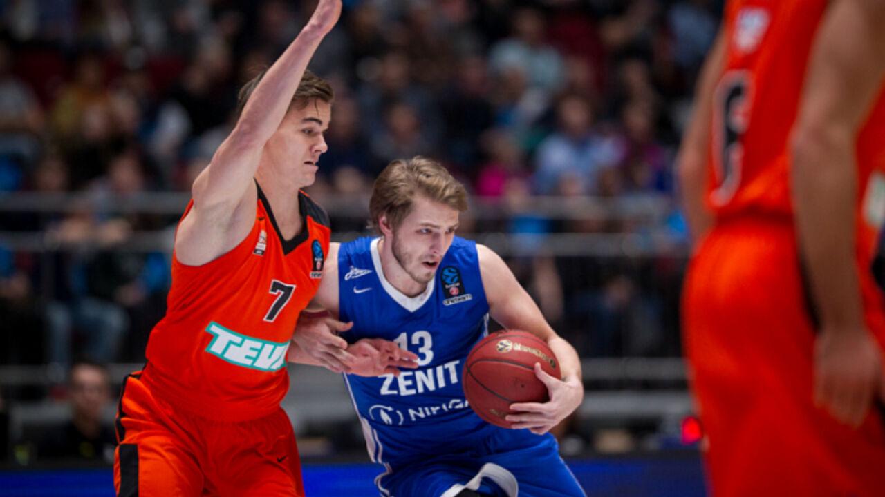 Жители России обыграли германцев вматче Еврокубка побаскетболу в северной столице