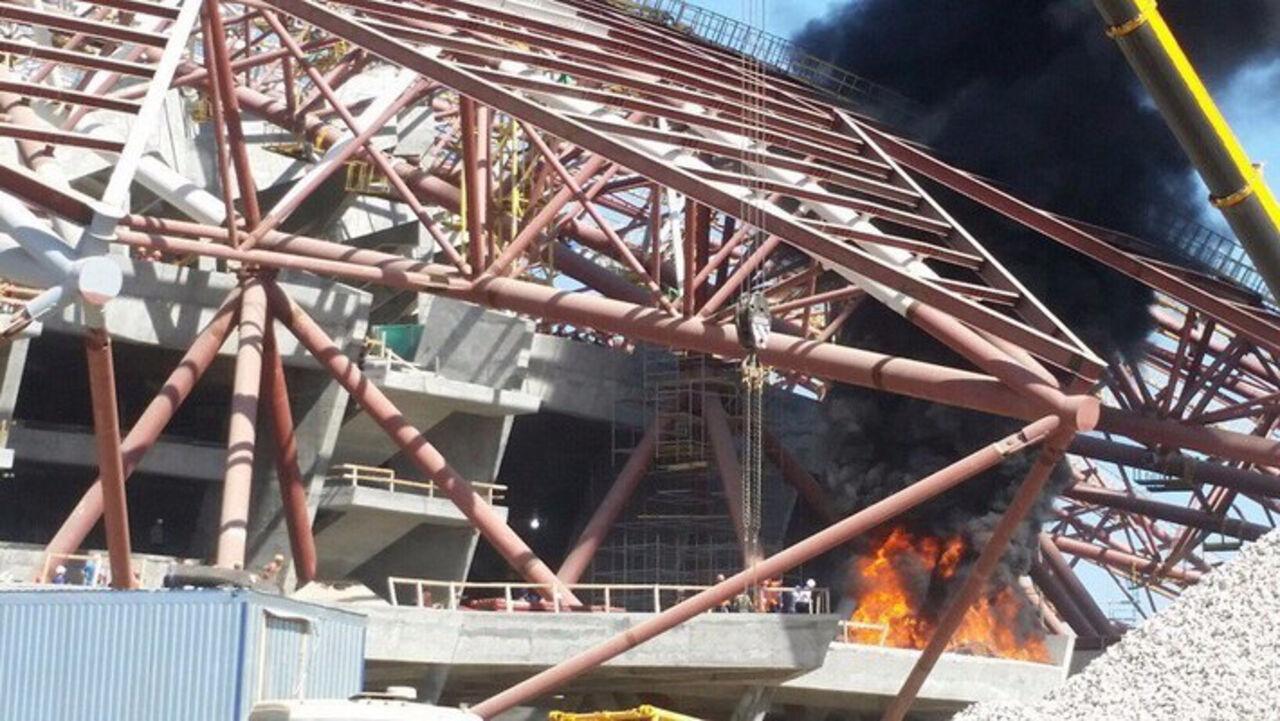 ВСамарской области появился пожар натерритории нового стадионаЧМ