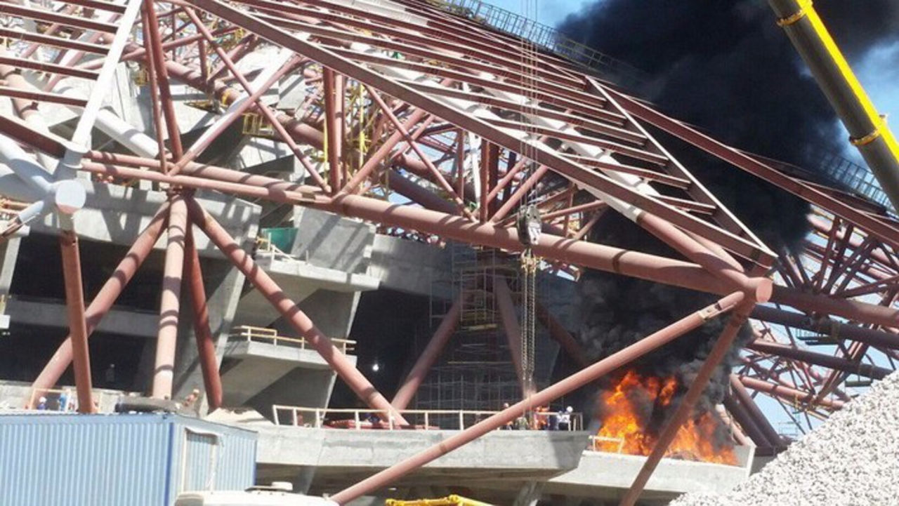 Настадионе ЧМ-2018 вСамаре произошел пожар