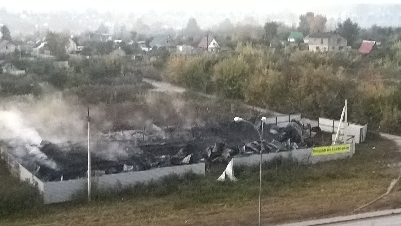 Ночью вкемеровском микрорайоне Южный сгорела сауна