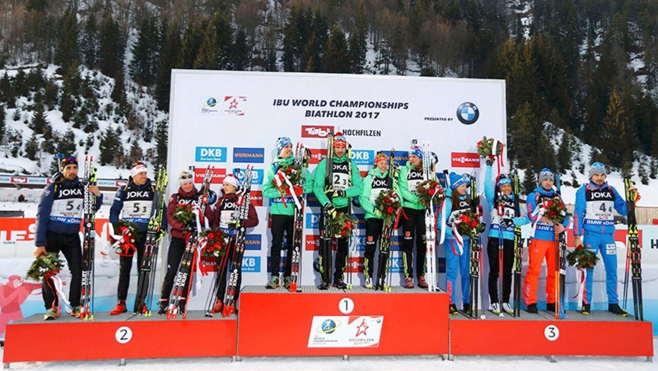 Москвичка Ольга Подчуфарова заняла 3-е место начемпионате мира побиатлону