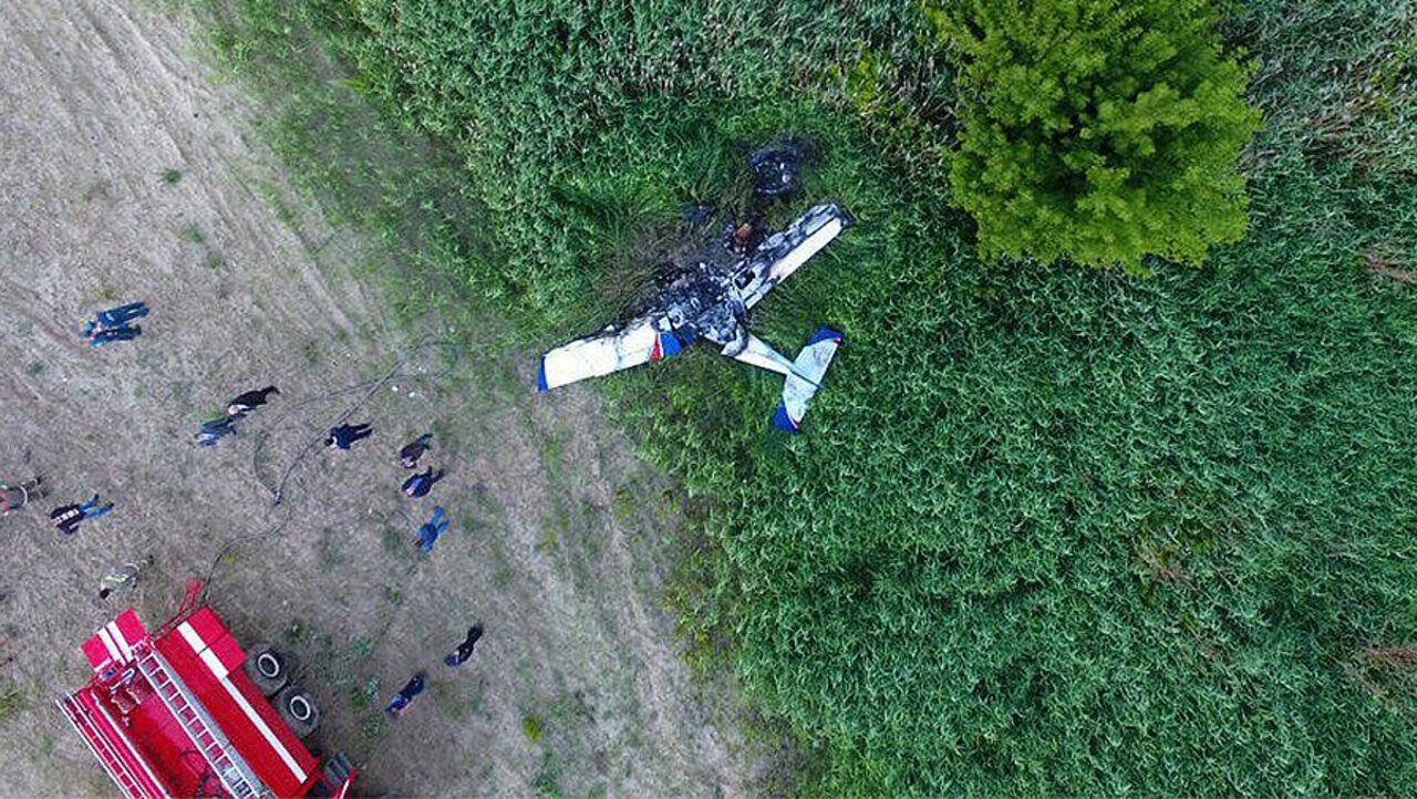Самолет рухнул напраздничном авиашоу вТамбове, умер пилот
