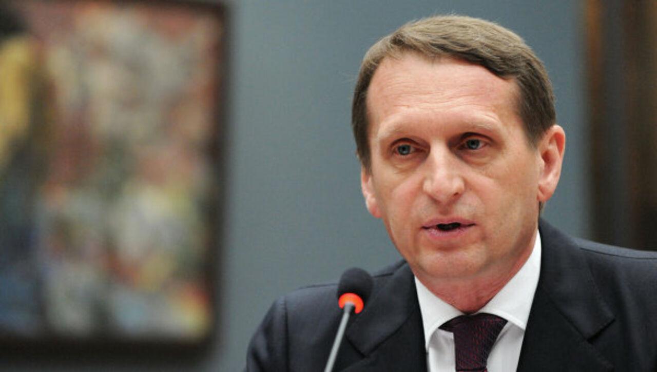 Путин назначил Нарышкина главой СВР Российской Федерации