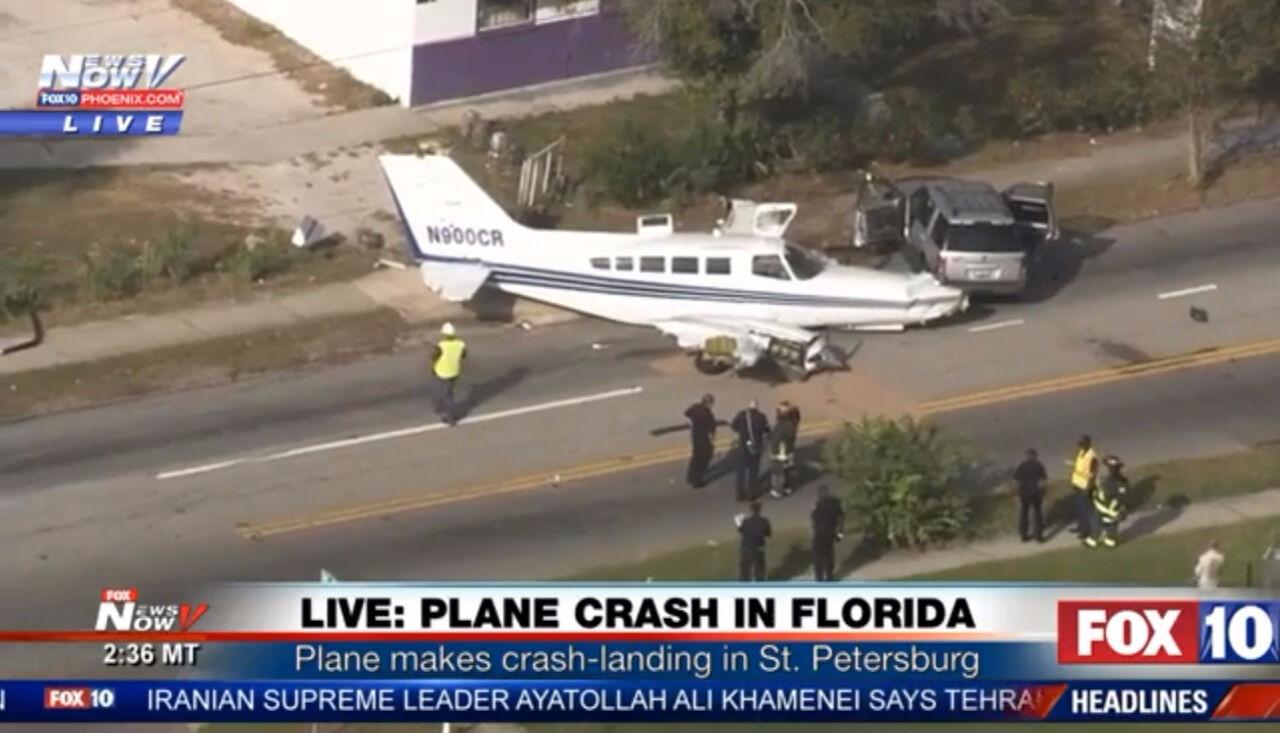 Самолет воФлориде сел напроезжую часть