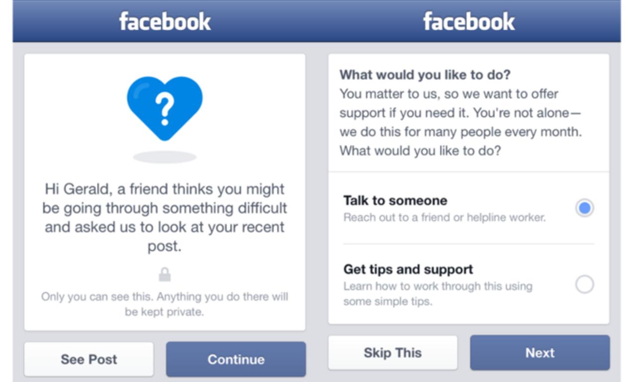 Фейсбук даст возможность пользователям сообщать одрузьях-суицидниках