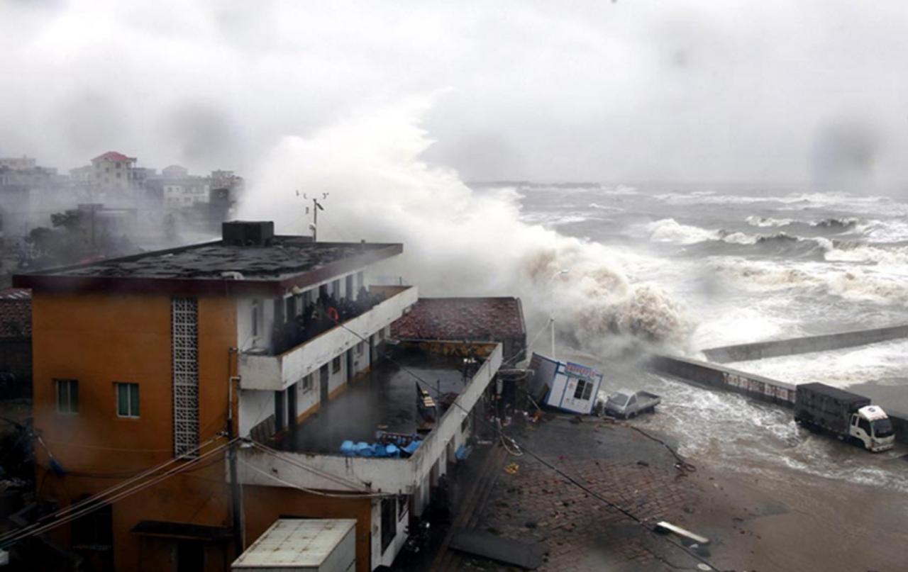 ВЮжной Корее 5 человек пострадали оттайфуна «Чаба»