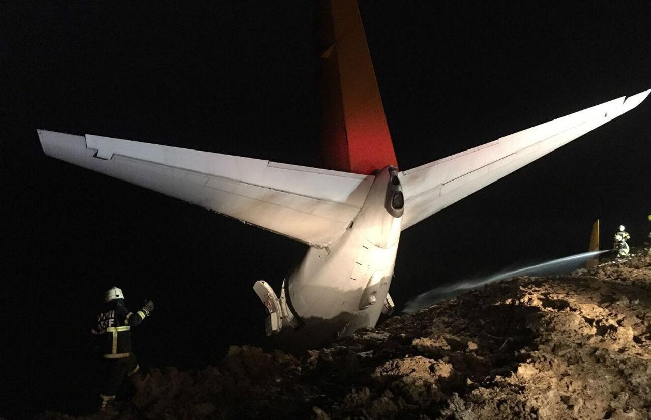 Самолет чуть нерухнул собрыва вморе вТурции