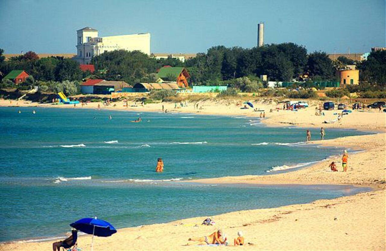 Пляж в оленевке в крыму фото пляжа