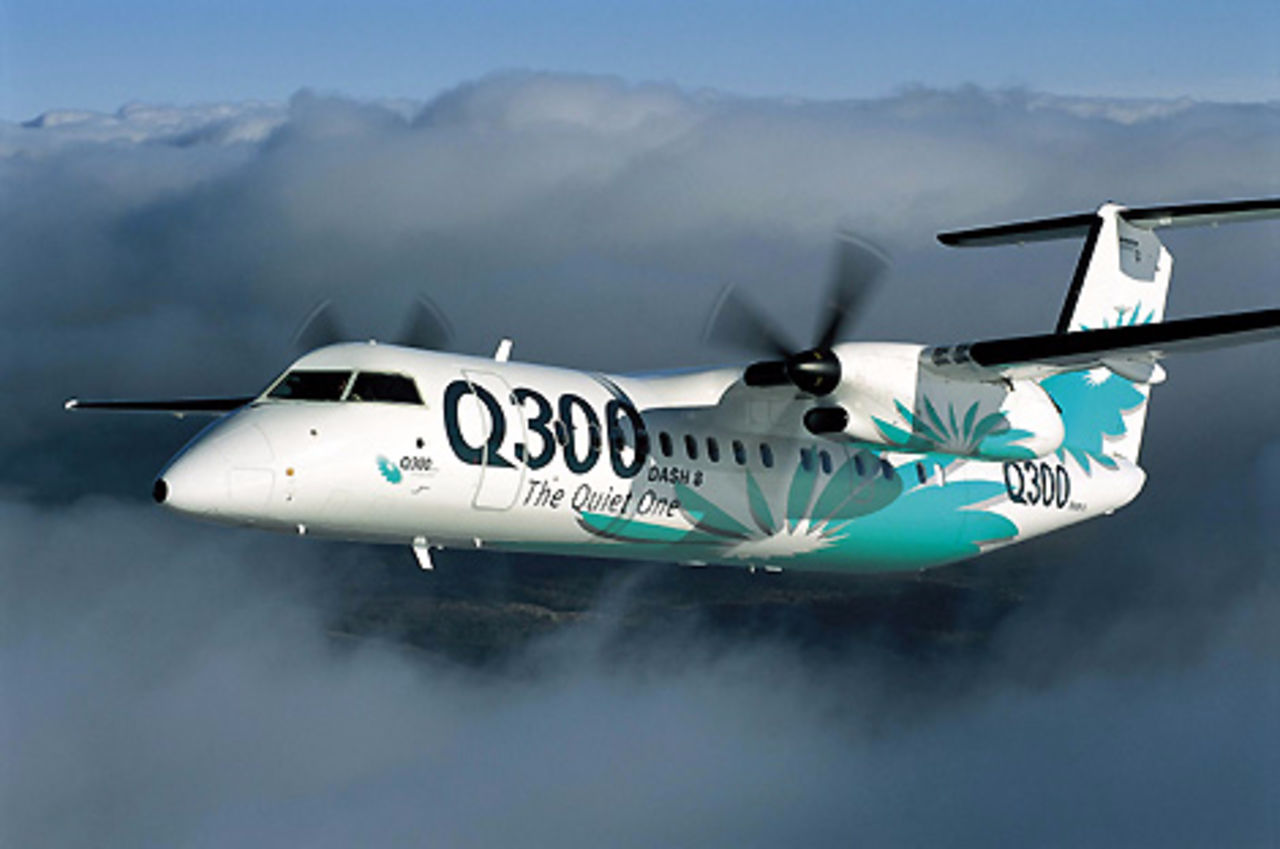ВЯкутске совершил аварийную посадку самолет Bombardier Q-300 с27 пассажирами