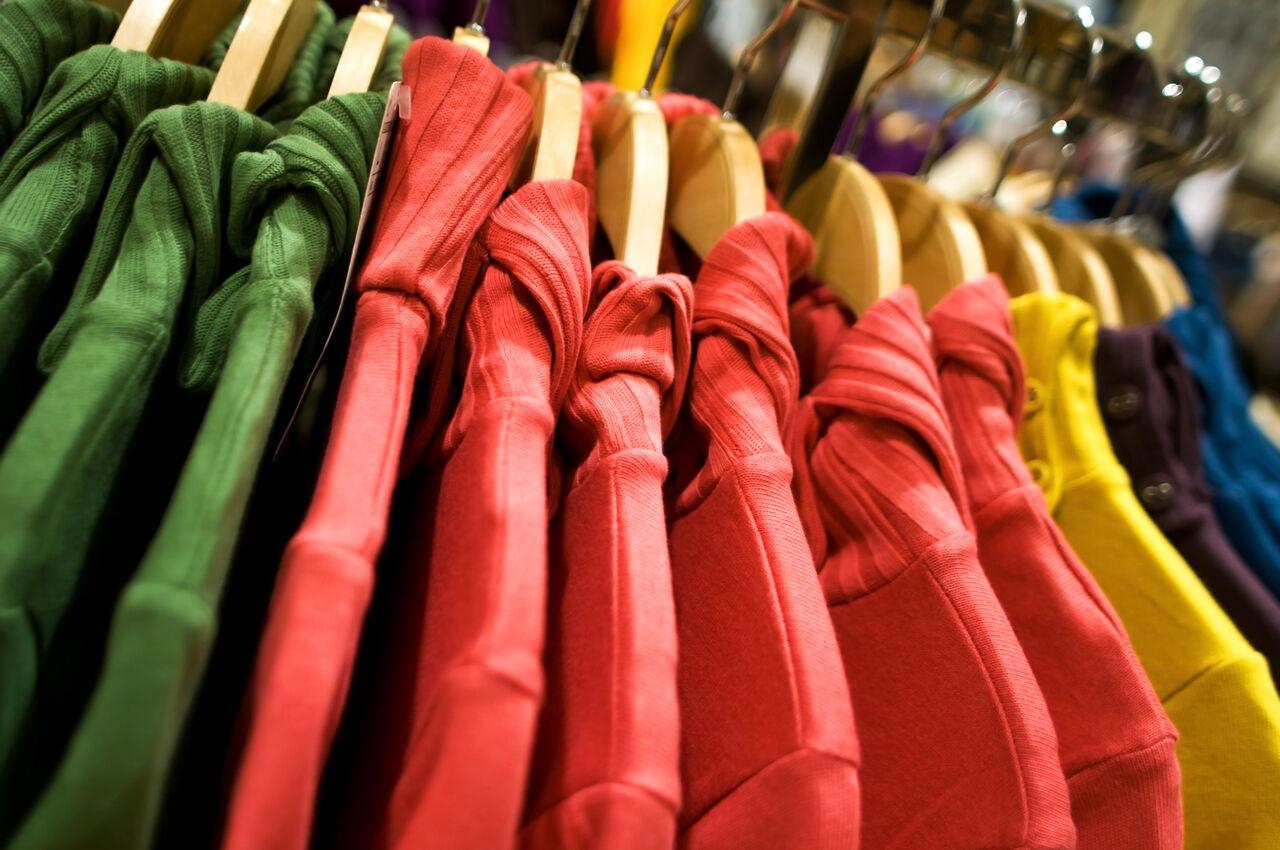 образцы торгового оборудования стойки одежда пермь