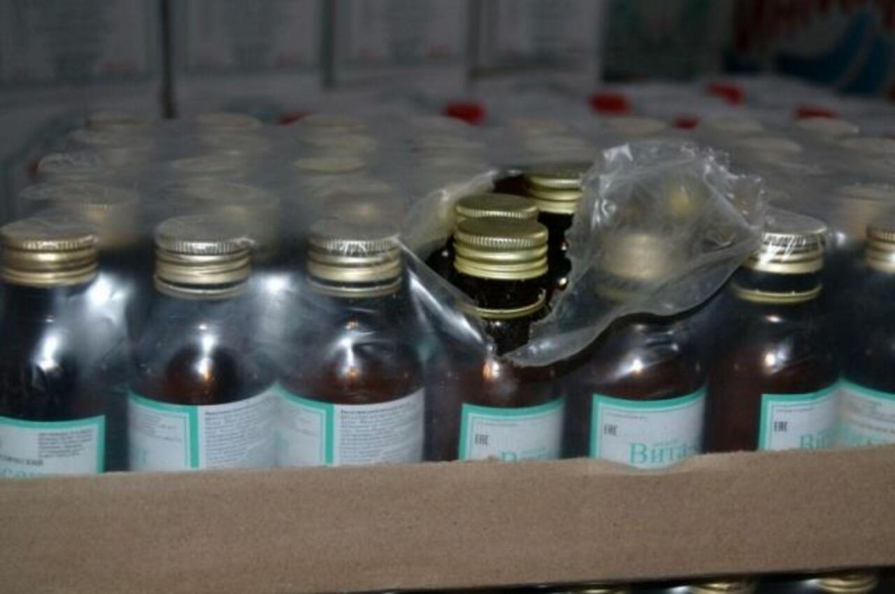 ВКузбассе закрыли цех попроизводству контрафактной водки икосметического лосьона