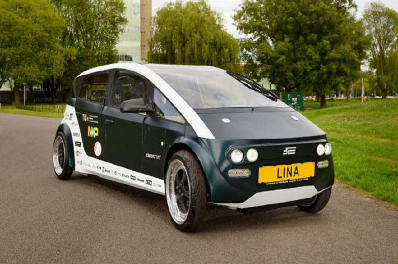 Студенты разработали в Голландии электромобиль Lina из биоразлагаемых веществ