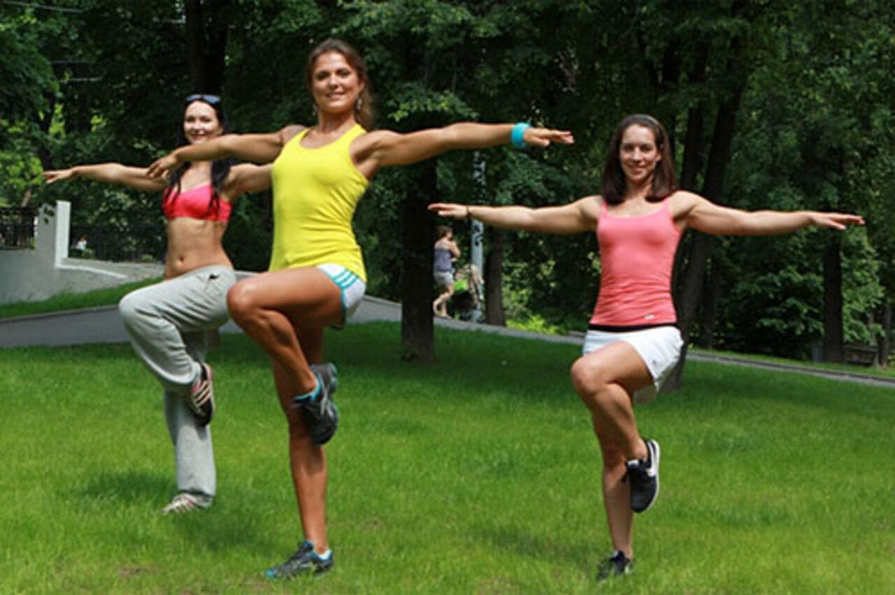 Фитнес клуб на природе