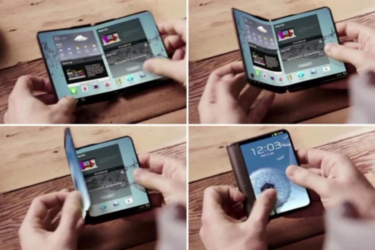 Самсунг готовит кпрезентации новый гнущийся пополам смартфон