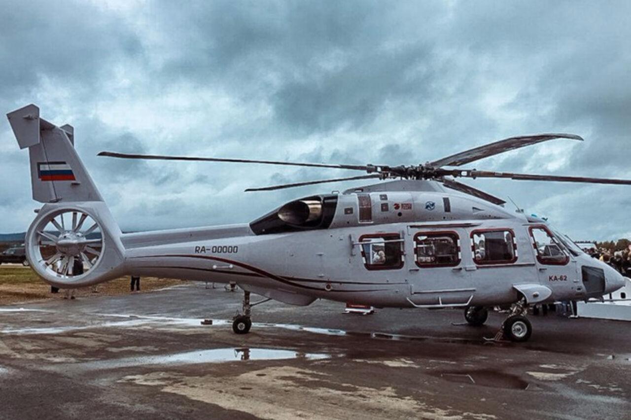 Новый русский вертолет Ка-62 совершил 1-ый круг почета