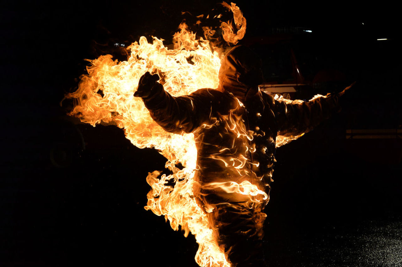 Москвич случайно сжег бездомного