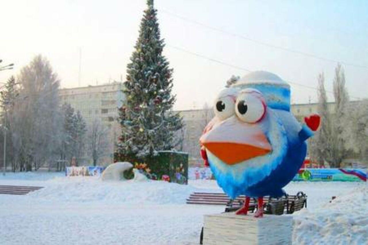 Горки из снега на новый год