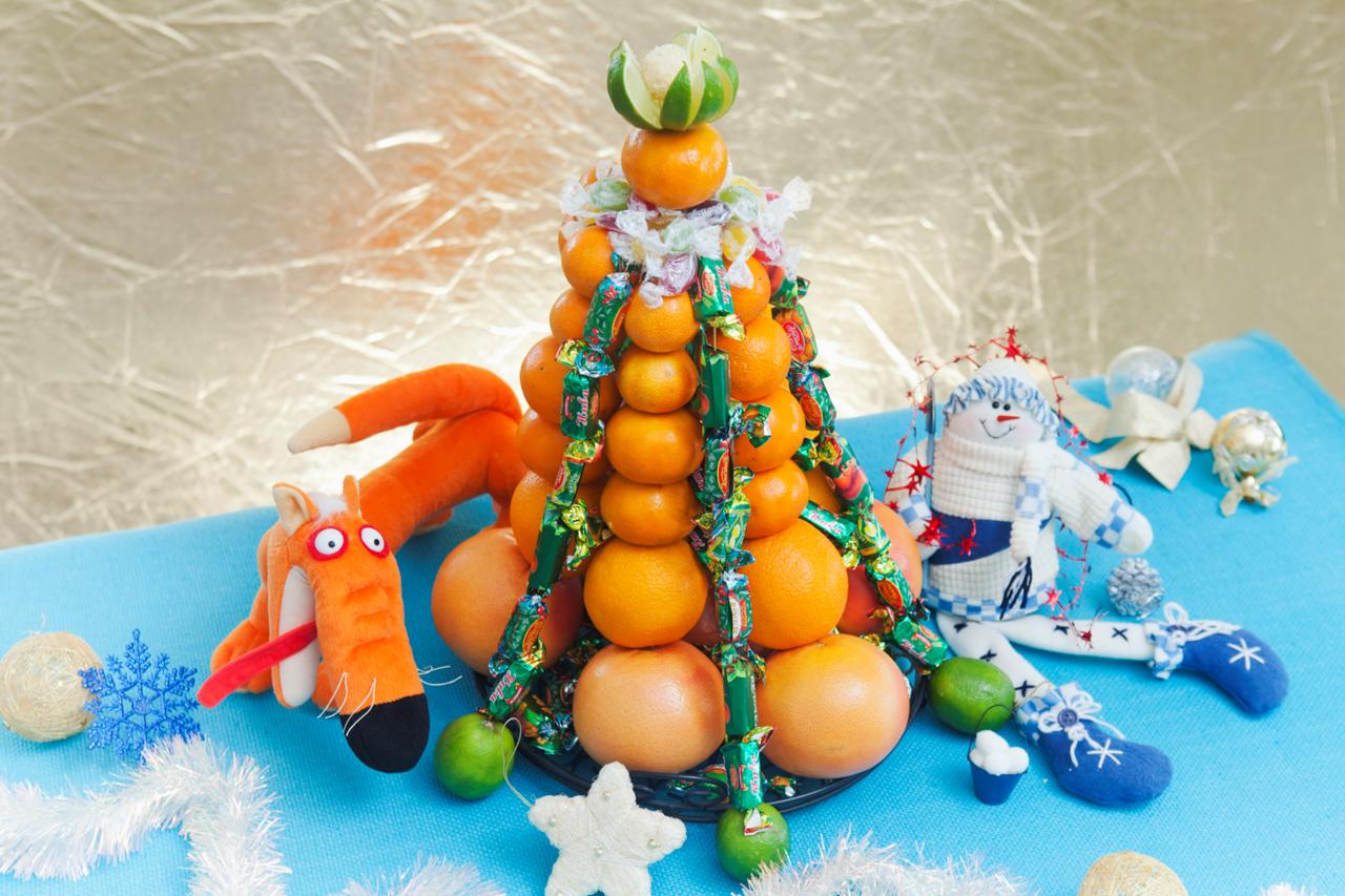 Как украсить мандарины к новому году своими