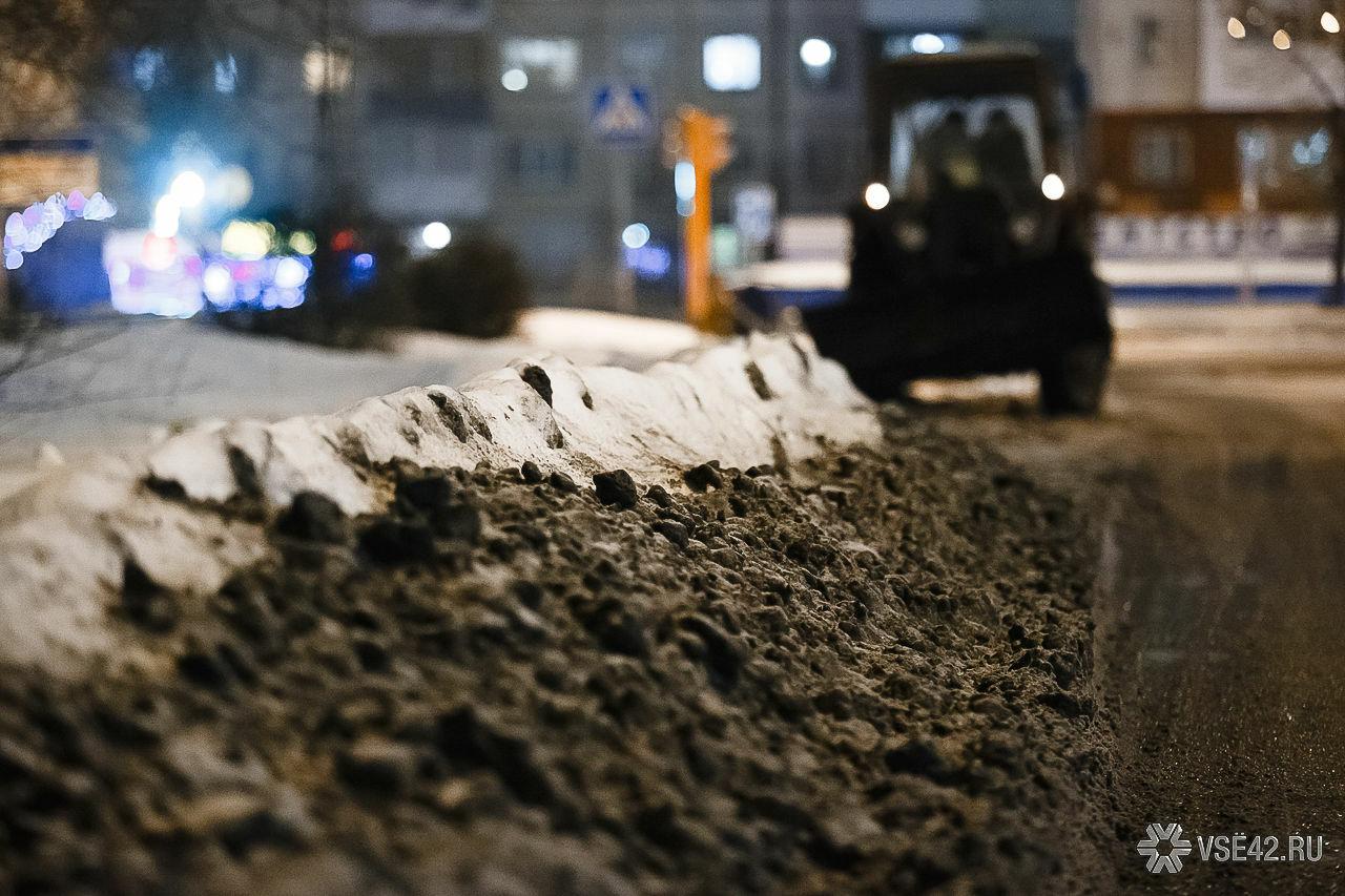 Ночью вКемерове выпала пятидневная норма снега