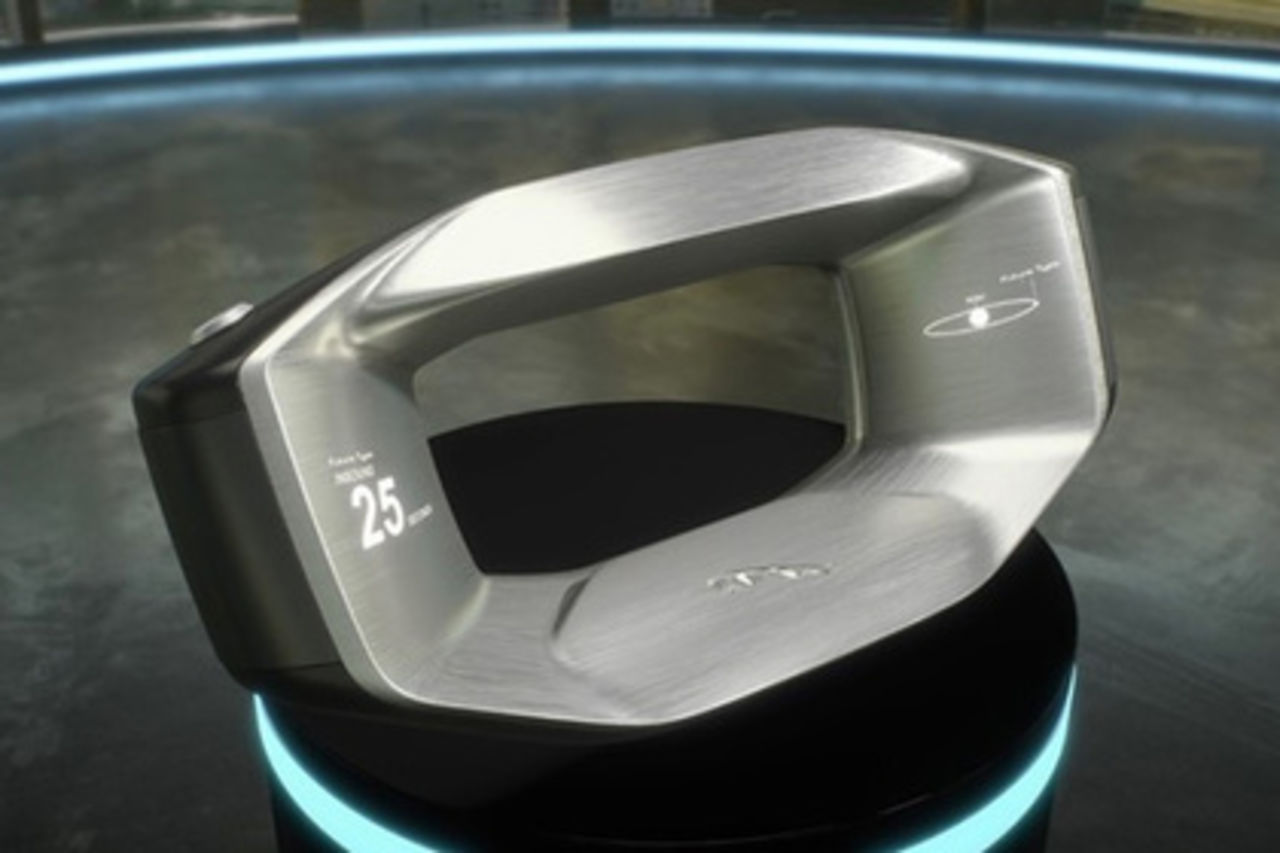 Ягуар представил революционный руль Sayer для авто будущего