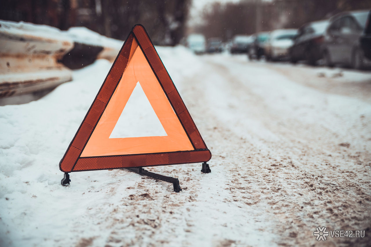 Кузбассовцы наснегоходе врезались вдерево иперевернулись