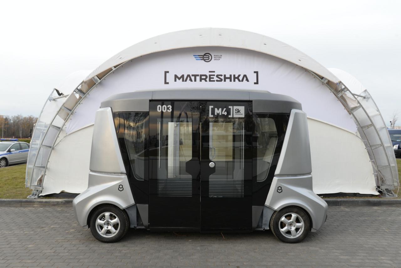 В РФ создадут беспилотный автобус «Матрёшка»