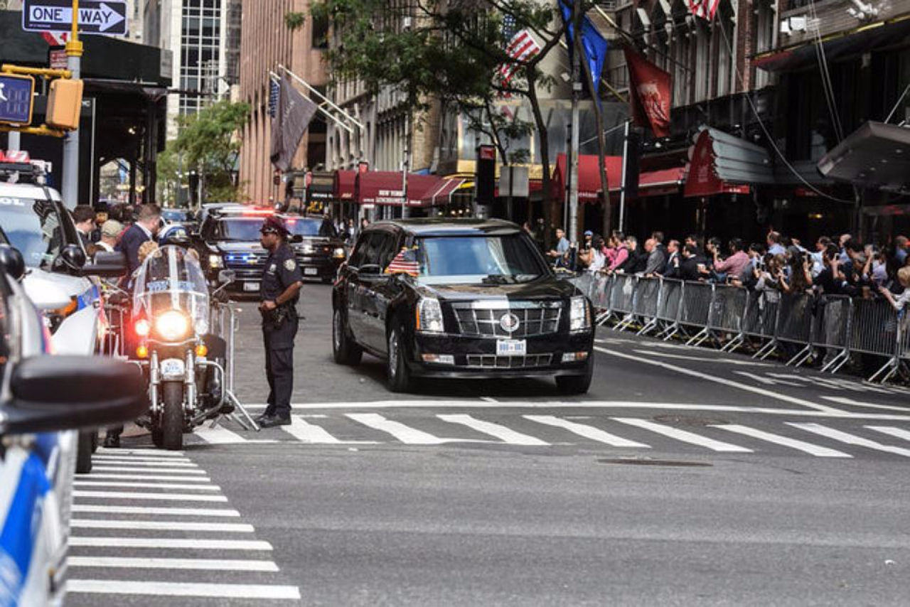 Впериод движения кортежа Трампа случилось ДТП
