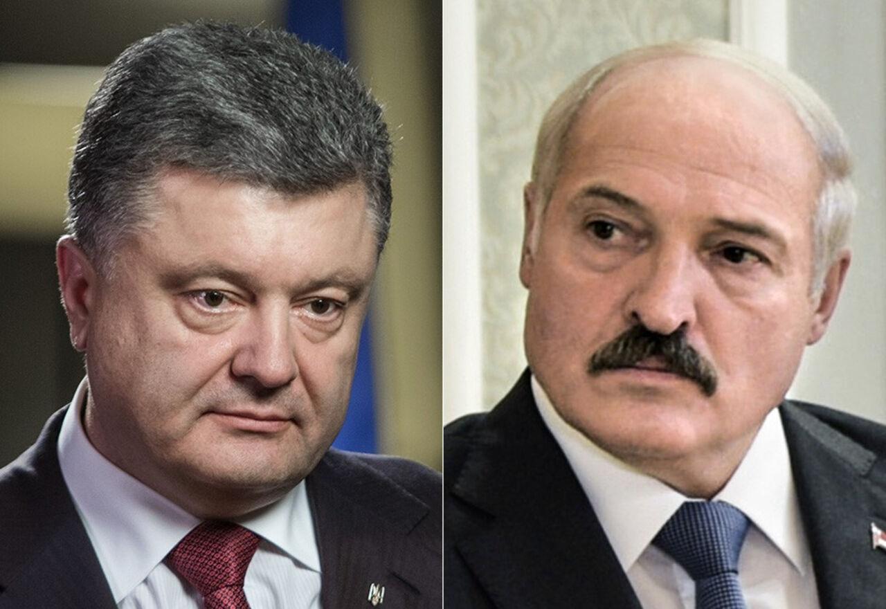 Президенты Украины и Республики Беларусь договорились осотрудничестве— Порошенко иЛукашенко