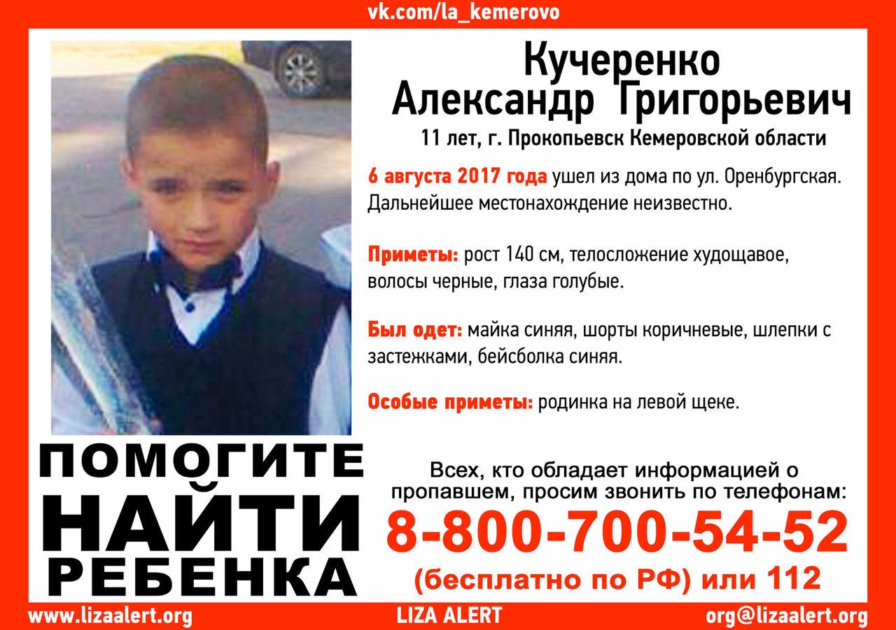 Кузбассовцев просят посодействовать впоисках 11-летнего школьника