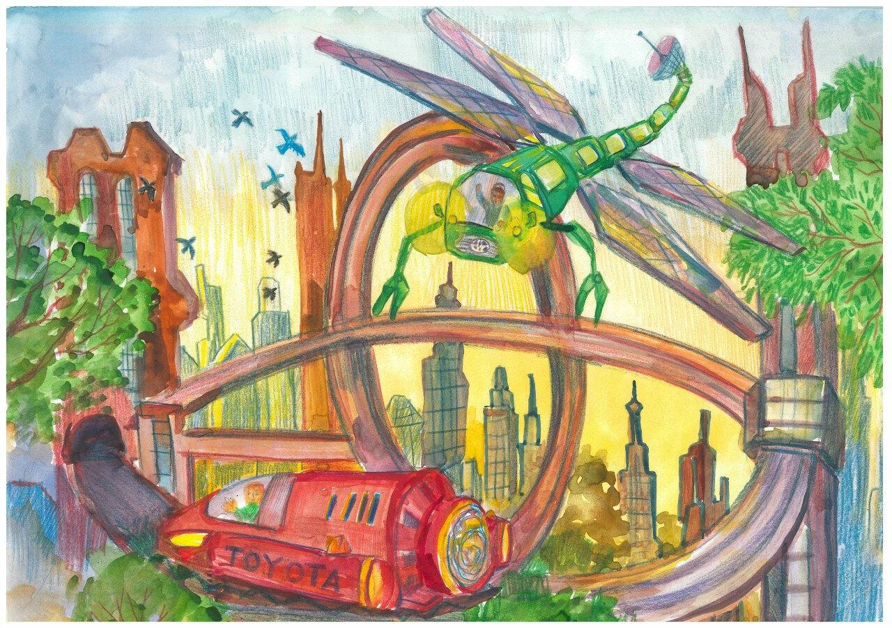 Рисунки детей машин будущего фото