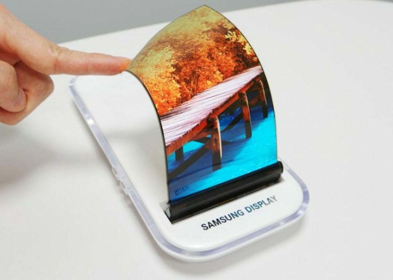 Самсунг показала растягивающийся экран