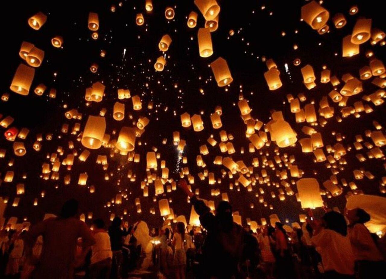 Воздушные фонарики своими руками фото