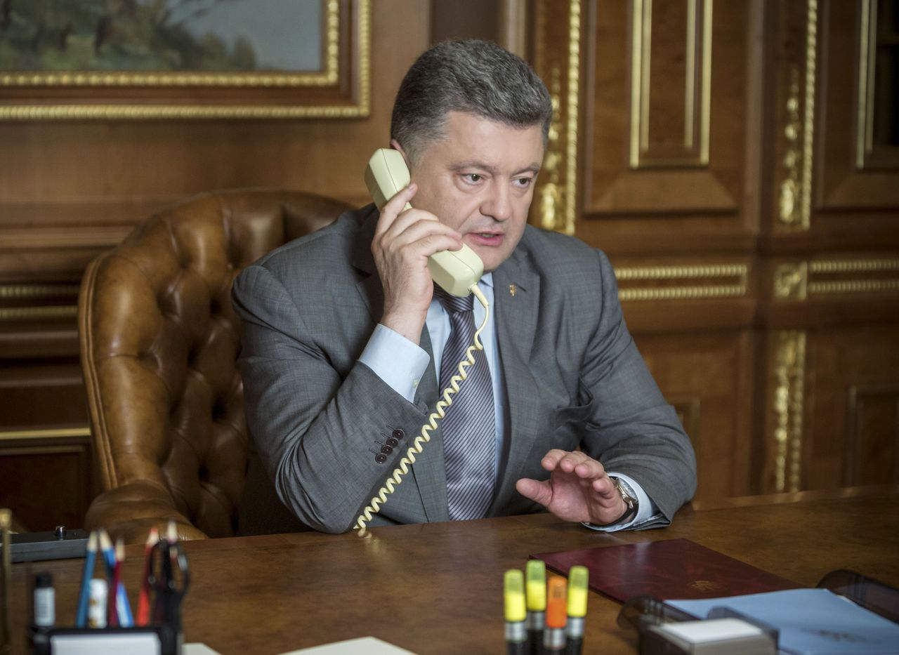 Петр Порошенко впервый раз пообщался сизбранным президентом США