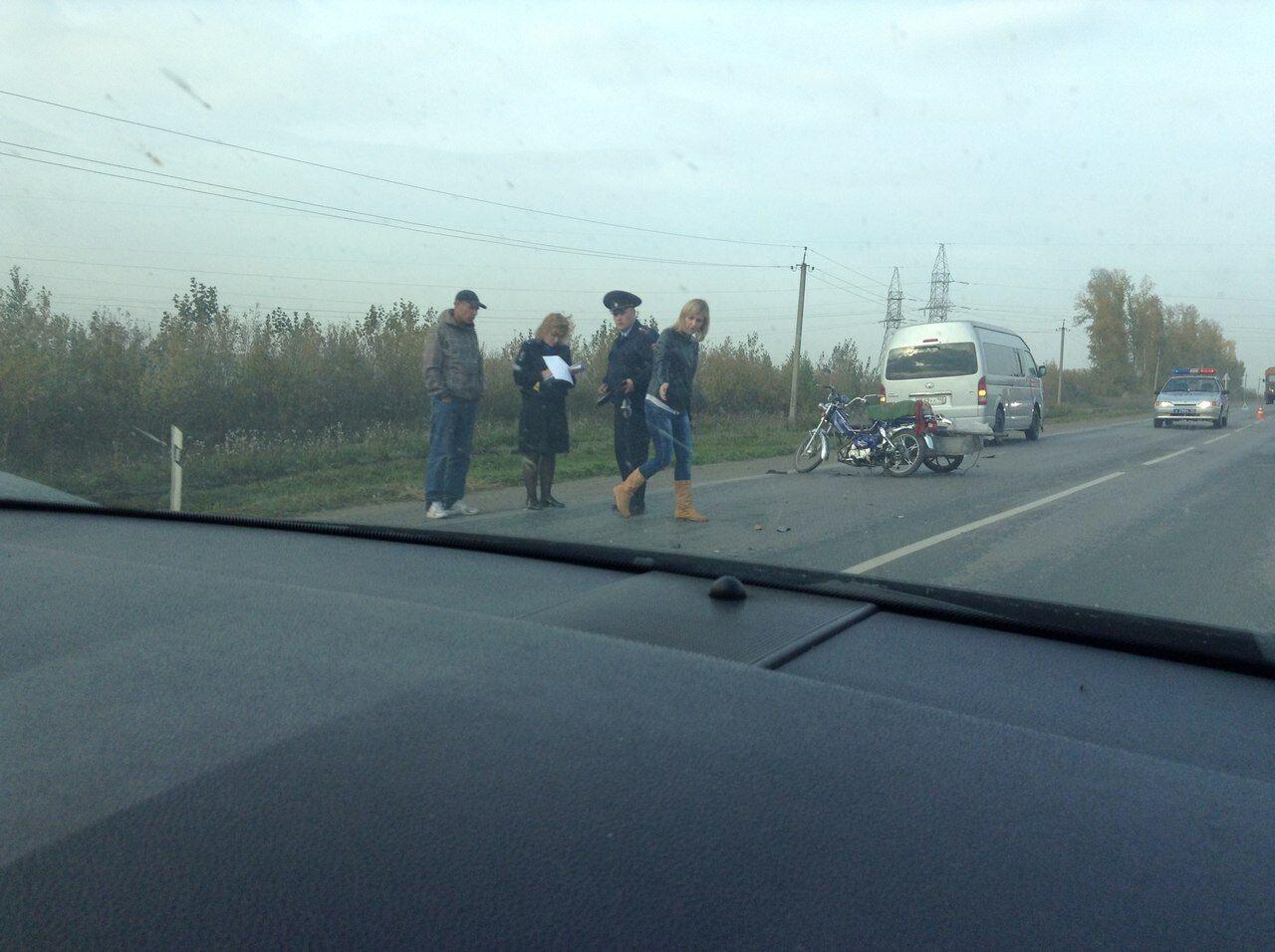 ВДТП накузбасской трассе умер 89-летний шофёр мопеда