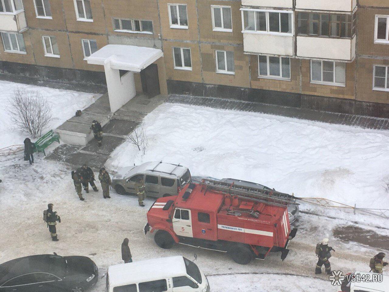 Многоэтажный высотный дом зажегся наФПК вКемерове