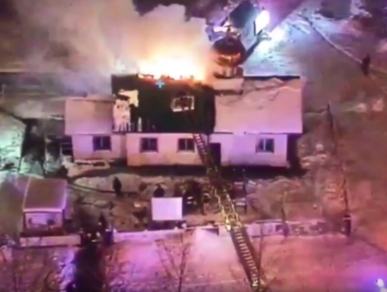 Cотрудники экстренных служб приступили кликвидации пожара вЮжном Бутово
