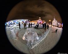 Сферический Кемерово в объективе фотокамеры