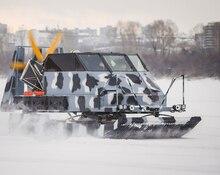 С шумом и пылью: в Кемерове презентовали аэросани